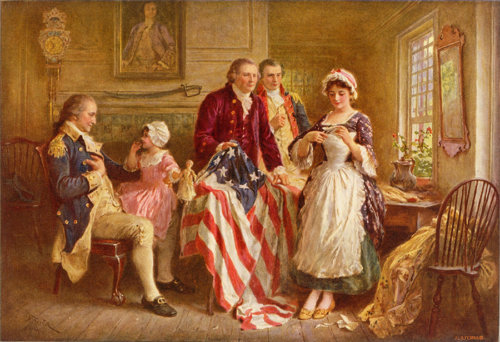 The first American flag was hamp